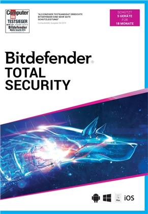 Bitdefender Total Security 2021 5 Gerät / 18 Monate (Code in a Box)