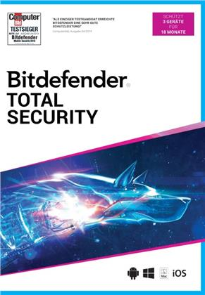 Bitdefender Total Security 2021 3 Gerät / 18 Monate (Code in a Box)
