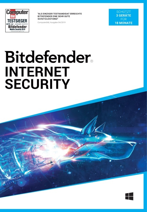 Bitdefender Internet Security 2021 3 Gerät / 18 Monate (Code in a Box)