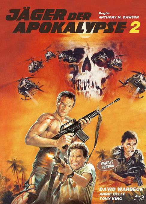 Jäger der Apokalypse 2 (1982) (Eurocult Collection, Cover C, Limited Edition, Mediabook, Uncut, Blu-ray + DVD)