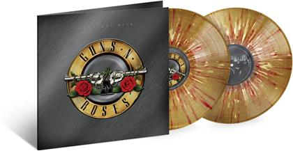 Guns N' Roses - Greatest Hits (2020 Reissue, Gold With Red Splatter Vinyl, 2 LPs)