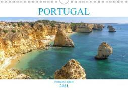 Portugal - Strände in Portugal (Wandkalender 2021 DIN A4 quer)