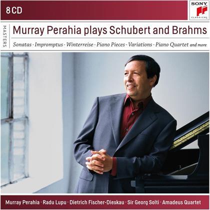 Murray Perahia, Johannes Brahms (1833-1897) & Franz Schubert (1797-1828) - Murray Perahia Plays Brahms and Schubert (8 CDs)