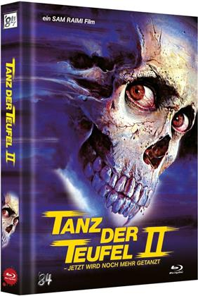 Tanz der Teufel 2 (1987) (Cover H, Limited Collector's Edition, Mediabook, Uncut, 4K Ultra HD + 2 Blu-rays)