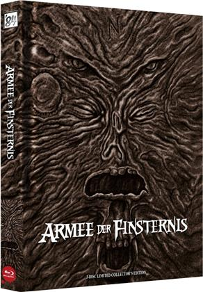 Armee der Finsternis (1992) (Wattiert, Cover A, Versione Cinema, Collector's Edition Limitata, Mediabook, Uncut, 3 Blu-ray)