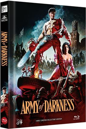 Army of Darkness (1992) (Cover B, Director's Cut, Versione Cinema, Collector's Edition Limitata, Mediabook, 3 Blu-ray)