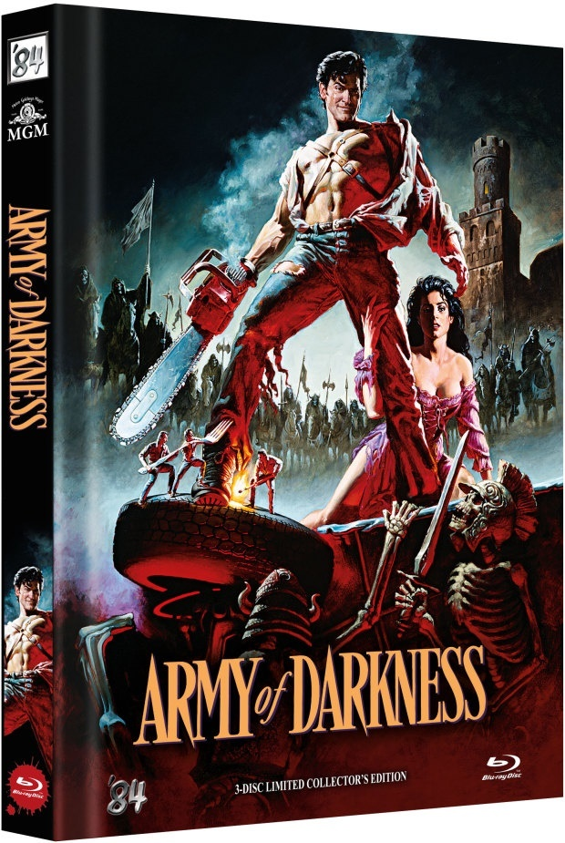 Army of Darkness (1992) (Cover B, Director's Cut, Kinoversion, Limited Collector's Edition, Mediabook, 3 Blu-rays)