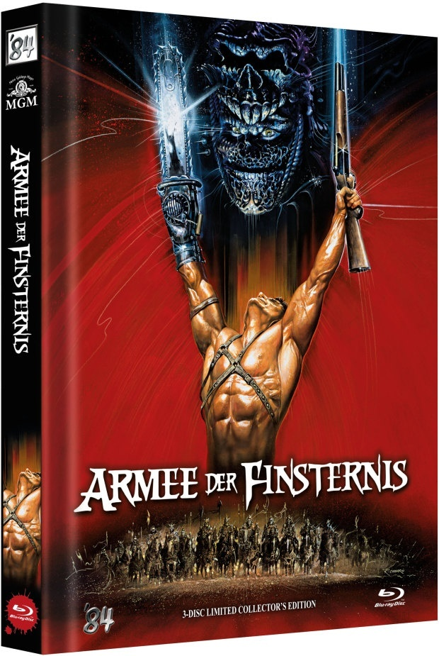 Armee der Finsternis (1992) (Cover C, Limited Collector's Edition, Mediabook, 3 Blu-rays)
