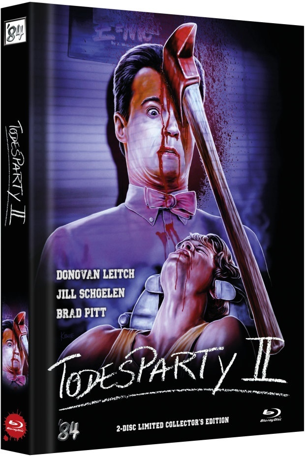 Todesparty 2 (1989) (Cover A, Limited Collector's Edition, Mediabook, Blu-ray + DVD)
