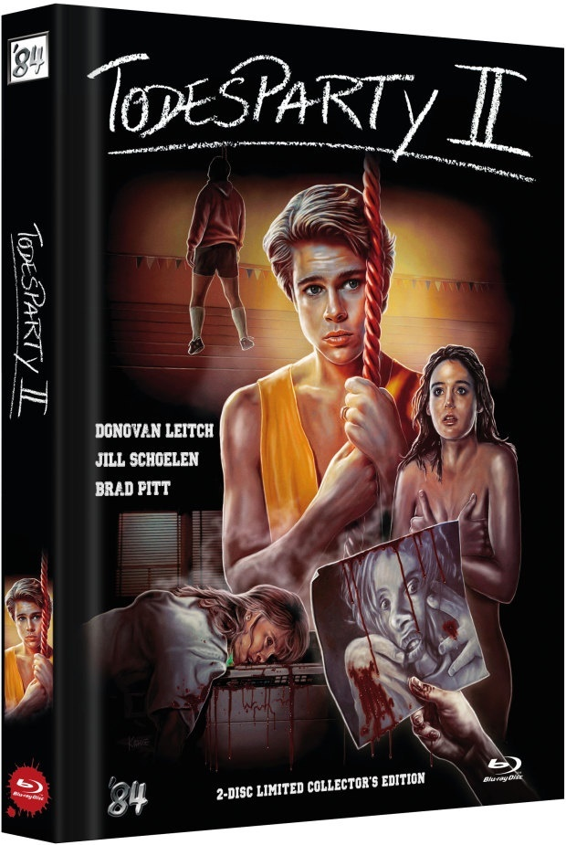 Todesparty 2 (1989) (Cover B, Limited Collector's Edition, Mediabook, Blu-ray + DVD)