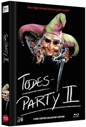 Todesparty 2 (1989) (Cover D, Limited Collector's Edition, Mediabook, Blu-ray + DVD)