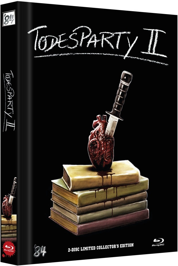 Todesparty 2 (1989) (Cover E, Limited Collector's Edition, Mediabook, Blu-ray + DVD)