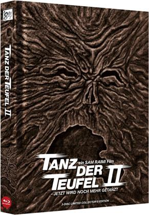 Tanz der Teufel 2 (1987) (Wattiert, Cover A, Limited Collector's Edition, Mediabook, Uncut, 4K Ultra HD + 2 Blu-rays)