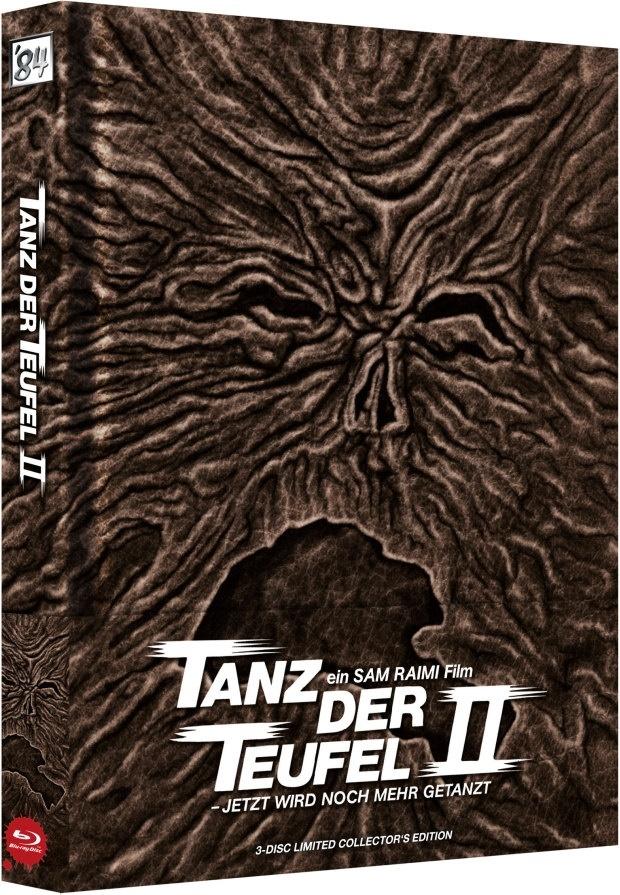 Tanz der Teufel 2 (1987) (Wattiert, Cover A, Limited Collector's Edition, Mediabook, Uncut, 4K Ultra HD + 2 Blu-rays)