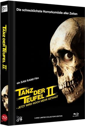 Tanz der Teufel 2 (1987) (Cover B, Collector's Edition Limitata, Mediabook, Uncut, 4K Ultra HD + 2 Blu-ray)