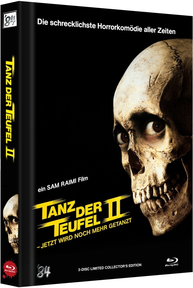 Tanz der Teufel 2 (1987) (Cover B, Limited Collector's Edition, Mediabook, Uncut, 4K Ultra HD + 2 Blu-rays)