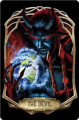 Deadly Tarot Obsidian: The Devil - Small Tin Sign