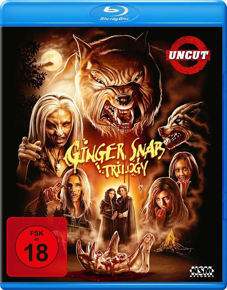 Ginger Snaps 1-3 - Trilogy (Uncut, 3 Blu-rays)