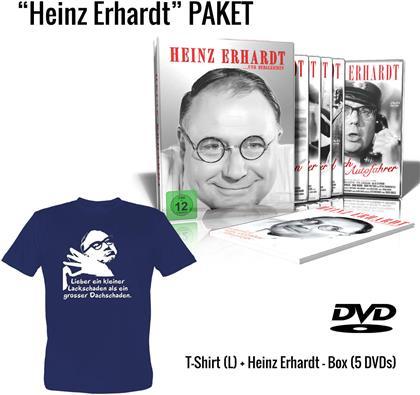 Heinz Erhardt - ...und dergleichen - Geschenkset (Metallbox, + T-Shirt L, Limited Edition, 5 DVDs)