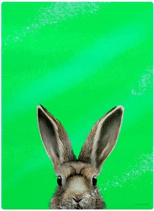 Inquisitive Creatures: Hare - Glass Chopping Board