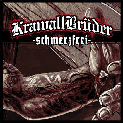Krawallbrüder - Schmerzfrei (2020 Reissue, Limited Edition, Green/Black/WhiteSplatter Vinyl, LP)