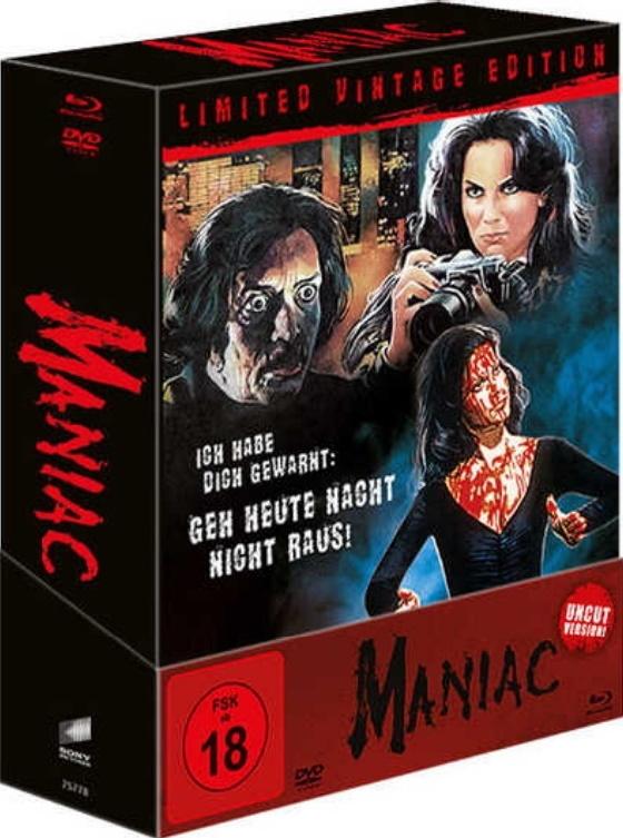 Maniac (1980) (Limited Vintage Edition, Director's Cut, Versione Cinema, Uncut, 4 Blu-ray + DVD)