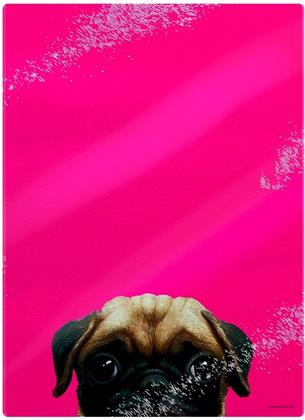 Inquisitive Creatures: Pug - Glass Chopping Board