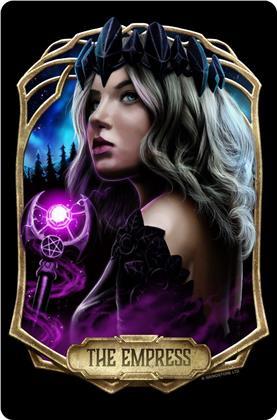 Deadly Tarot Obsidian: The Empress - Small Tin Sign
