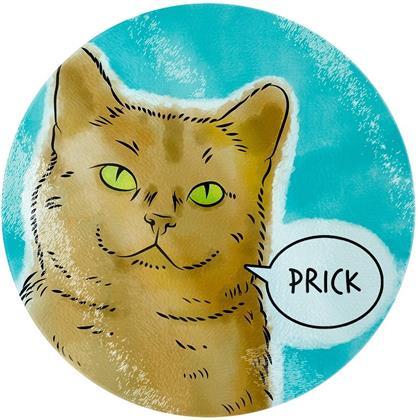 Cute But Abusive Pets: Prick - Glass Chopping Board