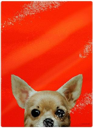 Inquisitive Creatures: Chihuahua - Glass Chopping Board