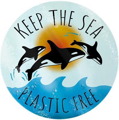 Keep the Sea Plastic Free - Glass Chopping Board