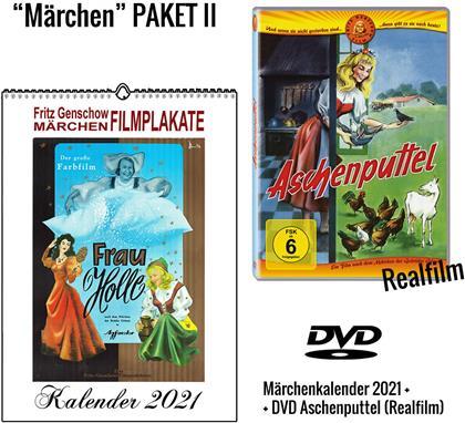 Aschenputtel - + Märchenkalender 2021 (A4 Wandkalender) (1955)