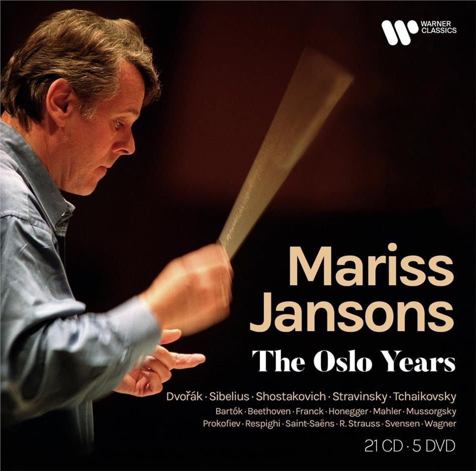 Mariss Jansons, Oslo Philharmonic Orchestra, Antonin Dvorák (1841-1904), Jean Sibelius (1865-1957) & Dimitri Schostakowitsch (1906-1975) - The Oslo Years (CD + DVD)