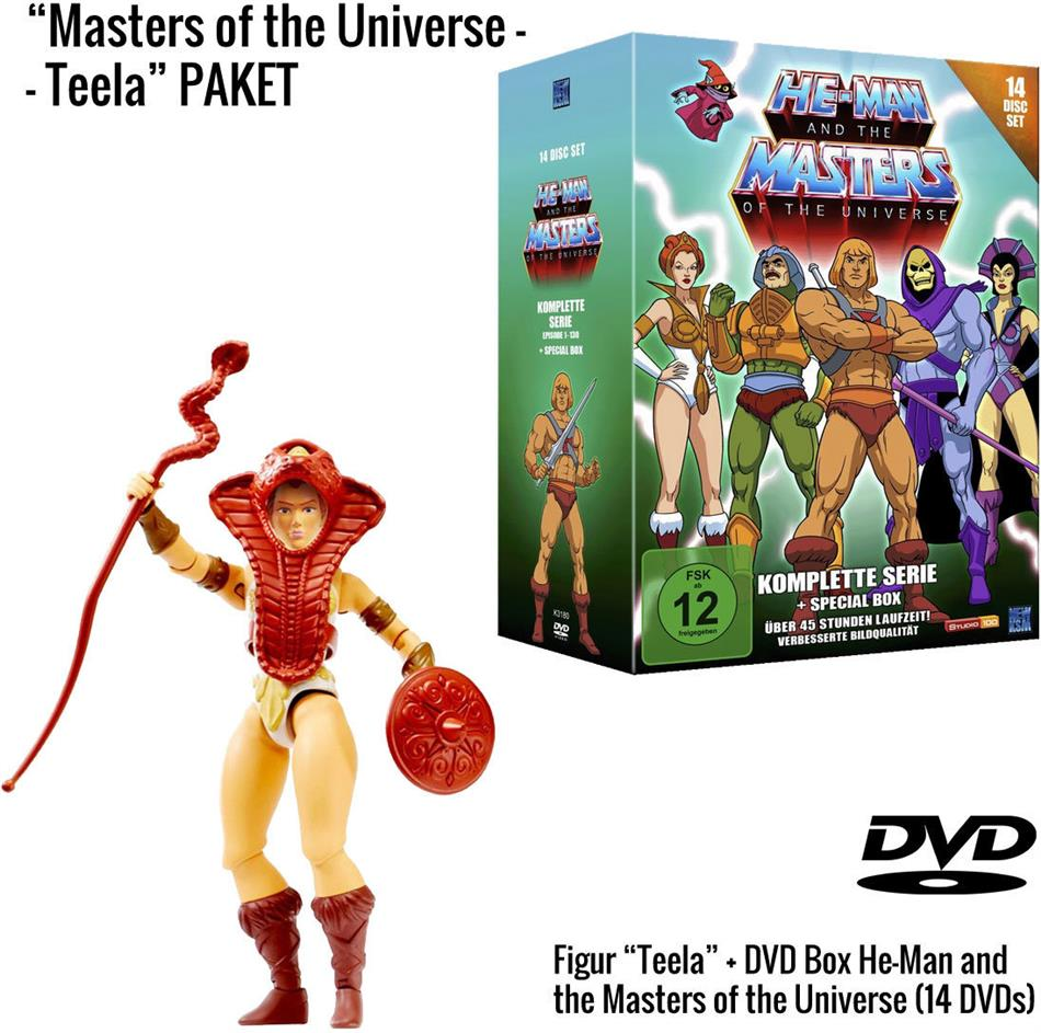He-Man and the Masters of the Universe - Die komplette Serie + Teela Figur (Limited Edition, 14 DVDs)