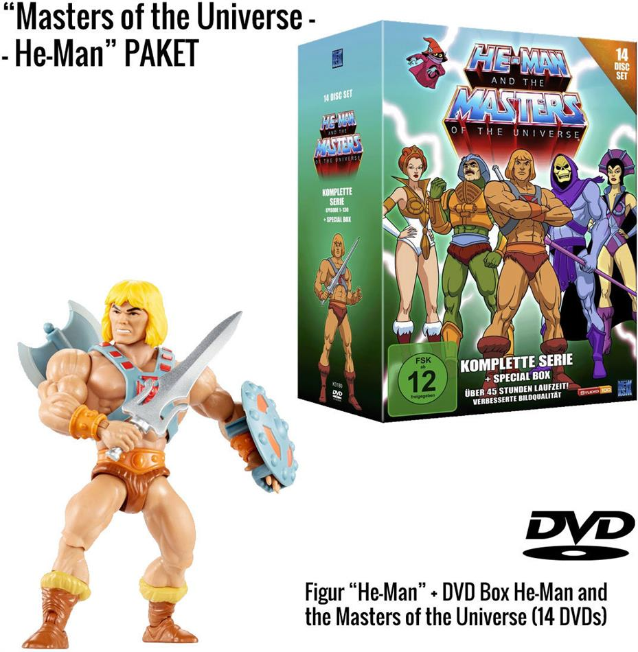 He-Man and the Masters of the Universe - Die komplette Serie + He-Man Figur (Limited Edition, 14 DVDs)
