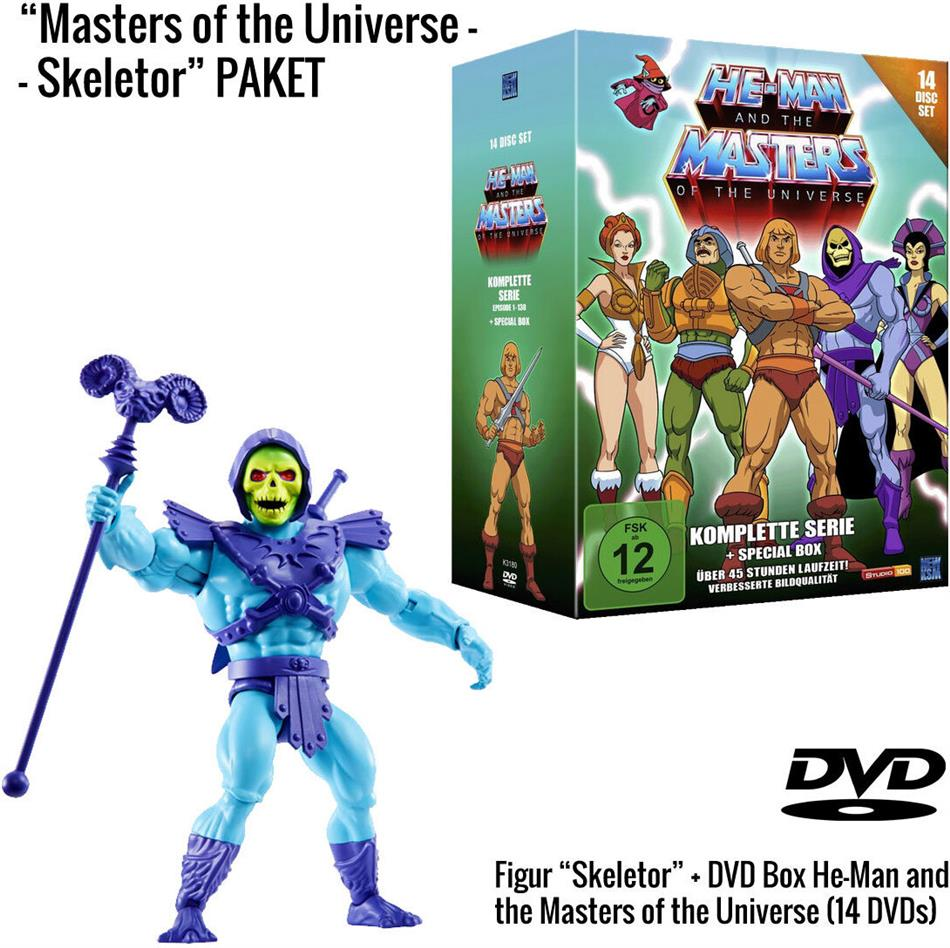 He-Man and the Masters of the Universe - Die komplette Serie + Skeletor Figur (Limited Edition, 14 DVDs)