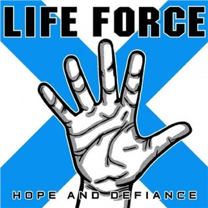 Life Force - Hope And Defiance (Aqua/Cyan White Splatter Vinyl, LP)