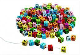 Buchstabenwürfel bunt zum Aufziehen