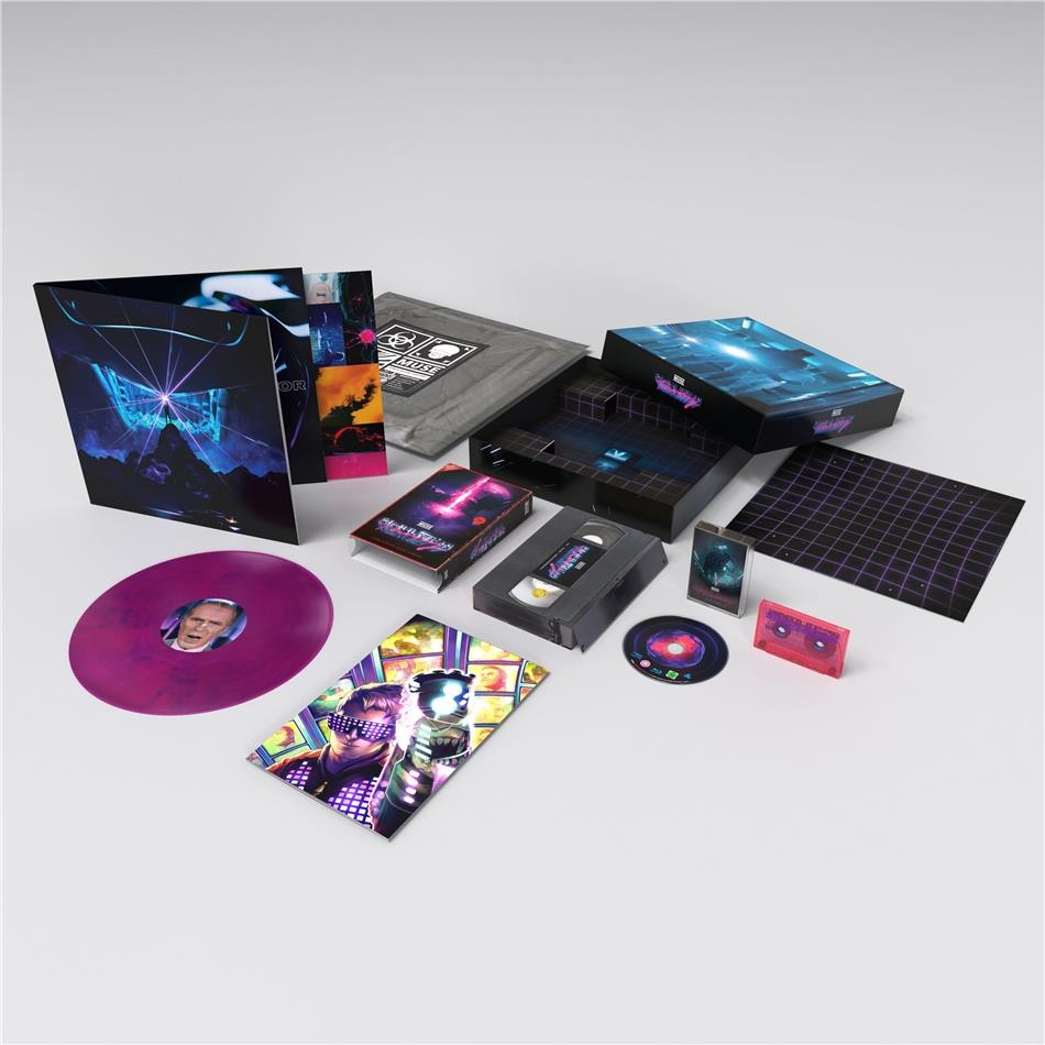 Muse - Simulation Theory (Collectors Edition, Limited Edition, Pink/Blue Marbled Vinyl, LP + Blu-ray + Audiokassette)
