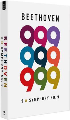 Beethoven - 9x Symphony No. 9 (9 DVDs)