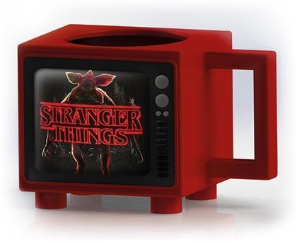 Stranger Things - Titles - Retro TV Heat Change Mug