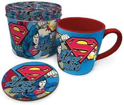 Dc Comics - Super Man My Superhero (Mug. Coaster & Tin)