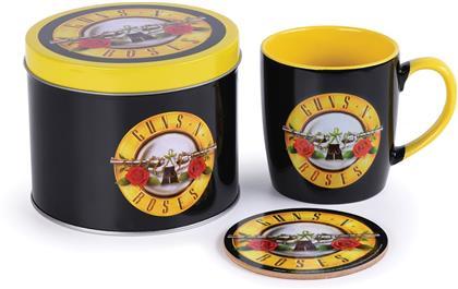 Guns N Roses: Bullet Logo - Mug. Coaster & Tin