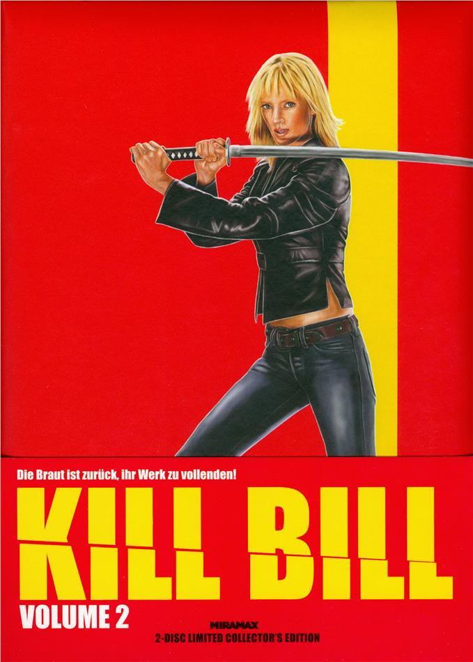 Kill Bill - Vol. 2 (2004) (Cover B, Wattiert, Limited Collector's Edition, Mediabook, Blu-ray + DVD)