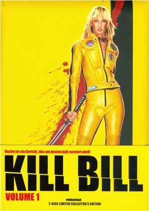 Kill Bill - Vol. 1 (2003) (Cover B, Wattiert, Limited Collector's Edition, Mediabook, Uncut, Blu-ray + DVD)