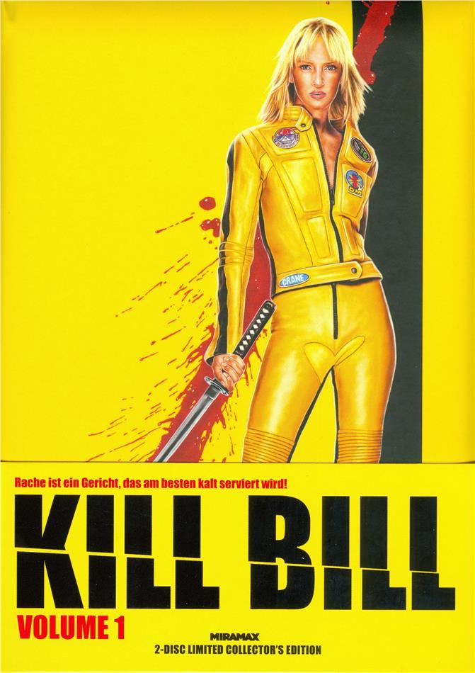 Kill Bill - Vol. 1 (2003) (Cover B, Wattiert, Limited Collector's Edition, Mediabook, Blu-ray + DVD)