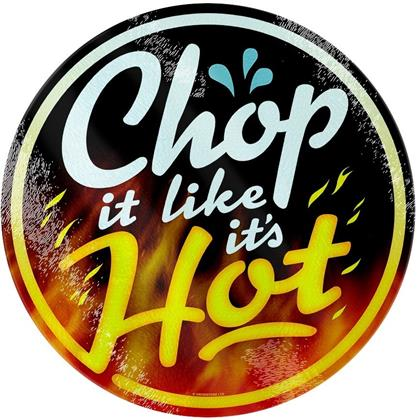 Chop It Like It's Hot - Glass Chopping Board