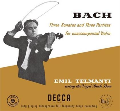 Johann Sebastian Bach (1685-1750) & Emil Talmanyi - Three Sonatas & Three Partitas For Unaccompanied Violin - Using The Vega Bach Bow (3 LPs)