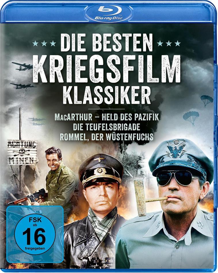 Die besten Kriegsfilm Klassiker - MacArthur - Held des Pazifik / Die Teufelsbrigade / Rommel, der Wüstenfuchs (3 Blu-rays)