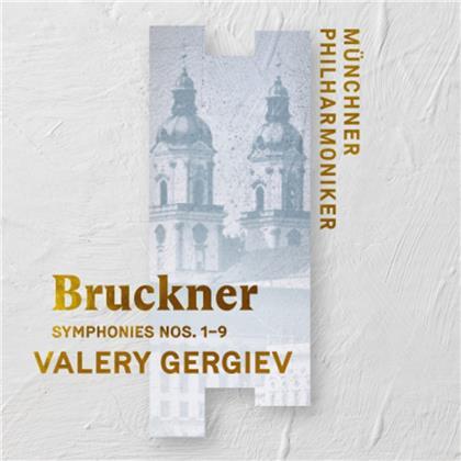 Anton Bruckner (1824-1896), Valery Gergiev & Münchner Philharmoniker - Symphonies Nos. 1-9 (9 CDs)